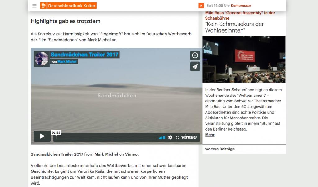 Deutschlandfunk Kultur Sandgirl